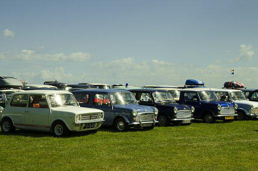 Morris Mini, Club Get-togethers, Cars, Denmark