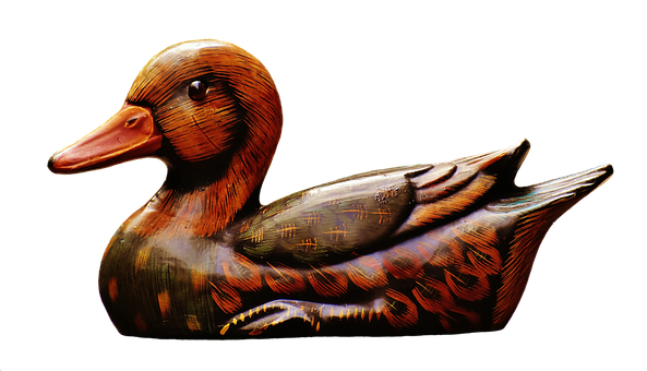 Duck, Deco, Figure, Cute, Sweet, Wood, Animal, Colorful