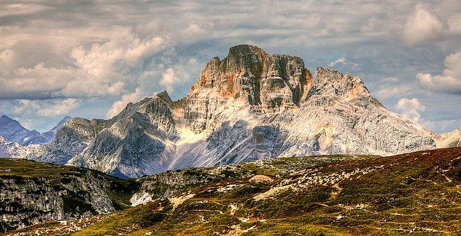 Croda Rossa, Dolomites, Mountains, Italy, South Tyrol