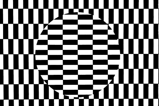 Deception, Optics, Pattern, Diamonds, Black And White