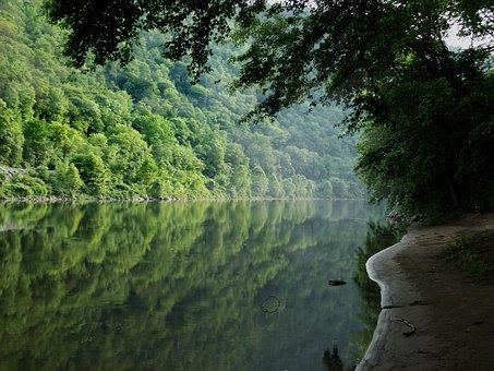 Delaware Water Gap, Delaware River, River, Water