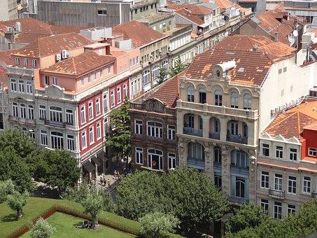 Porto, Houses, Greens, House, Landscape, Green, Tree