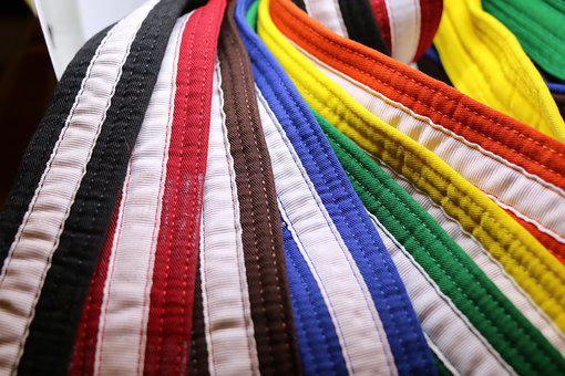 Karate, Martial Arts, Belts, Rank, Black, Red, Brown
