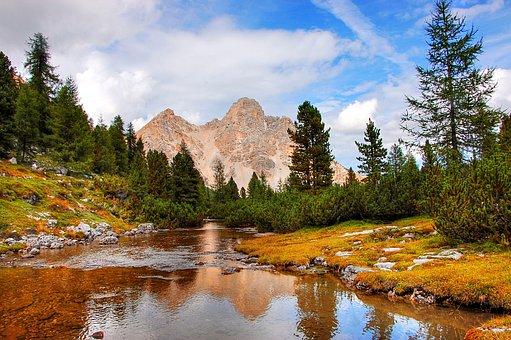 Iron Fork, Fanes, Dolomites, Landscape, Mountains, Rock