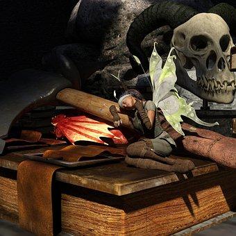 Elf, Dragon, Fantasy, Fairy Tales, Mythical Creatures