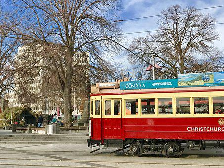 Trams, Christchurch, N, New, Zealand, City, Tourism