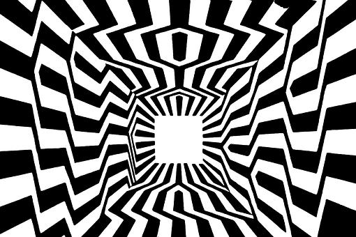 Deception, Optics, Pattern, Lines, Black And White