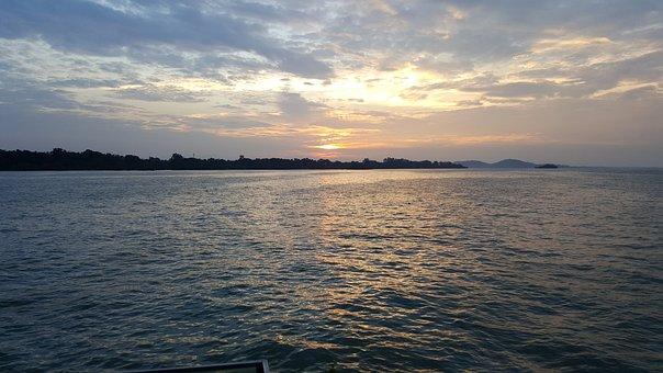 Sea, Sky, Sunrise, Ocean, Nature, Water, Blue