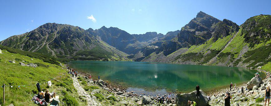 Tatry, Mountains, Black Pond A Tracked, Landscape