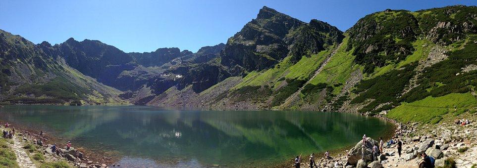 Mountains, Tatry, Black Pond A Tracked, The High Tatras