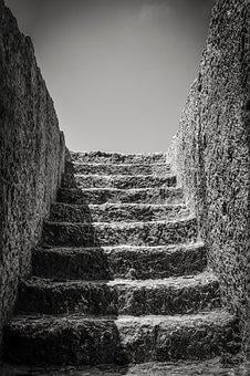 Cyprus, Ayia Napa, Makronissos, Stairs, Staircase, Tomb