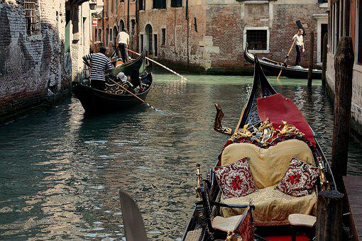 Venice, Gondola, Channels, Channel, Italy