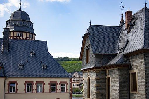 Mosel, Bernkastel Kues, Old Town, Wine Village, Truss