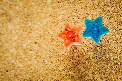 Cork, Pin, Cork Board, Star, Transparent Star, Star Pin