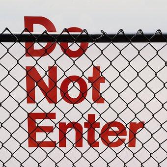 Sign, Do Not Enter, Red, Danger, Warning, White