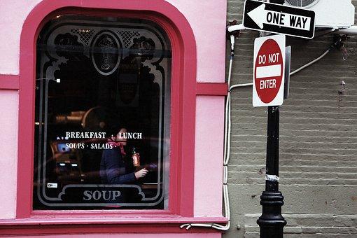 Restaurant, Pink, Window, Breakfast, Lunch, Soups
