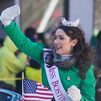 Miss Boston, St Patrick's Day, America, Green