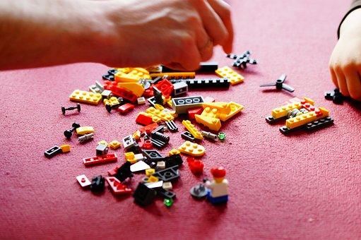 Lego, Build, Building Blocks, Toys, Children, Hands