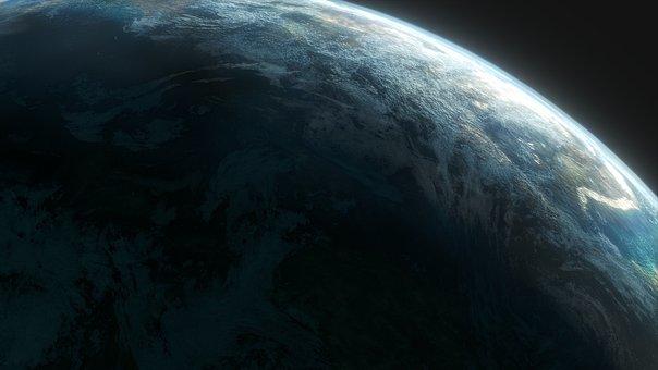 Planet, Aerial View, Atmosphere, Space