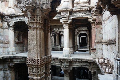 India, Wells, Sculpture, Ahmedabad, Adalaj, Perspective