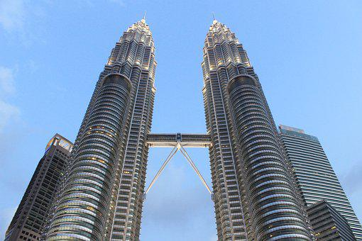Twin, Tower, Malaysia, Architecture, Landmark, Building