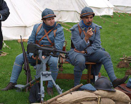 French, Army, War, Costume