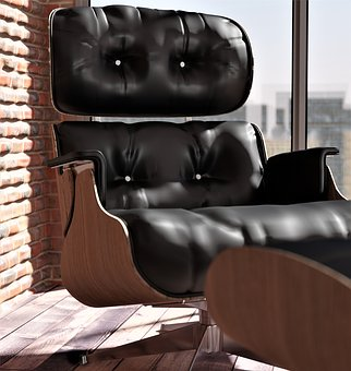 Armchair, Leather Chair, Ic, Black, Furniture