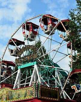 Ferris Wheel, Carousel, Historically, Fair, Year Market