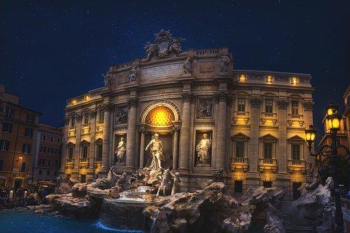 Italy, Night, Architecture, Travel, Europe, Building