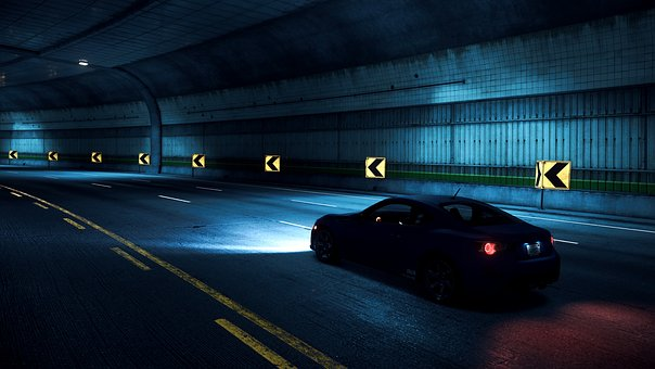 Way, Asphalt, Night, Tunnel, Car, Need For Speed