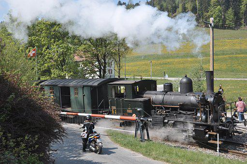 Dvzo, Steam Locomotive, Steam Train, Neuthal, Nostalgia