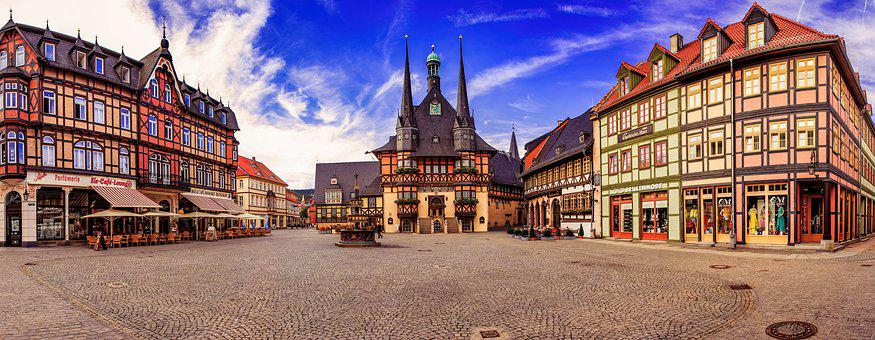 Wernigerode, Marketplace, City, Old Town, Center