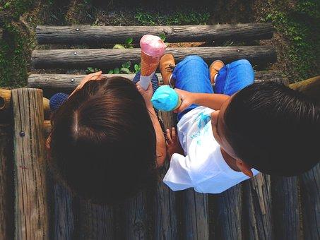 Kids, Park, Ice Cream, Love
