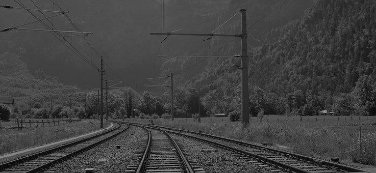 Black White, Roads, Austria, Mountains, Mountain