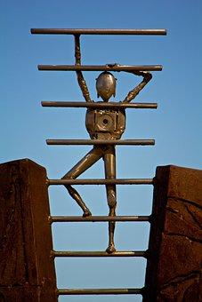 Stainless, Sculpture, Art, Metal, Iron, Scrap Sculpture