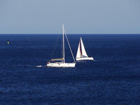 Sail, Sail Boat, Sailboat, Sailing, Blue, Sky, Yacht