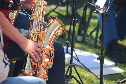 Saxophone, Music, Concert, Wind Instrument, Music Band