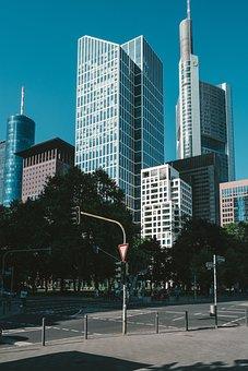 Frankfurt, Skyline, Skyscraper, Town Center