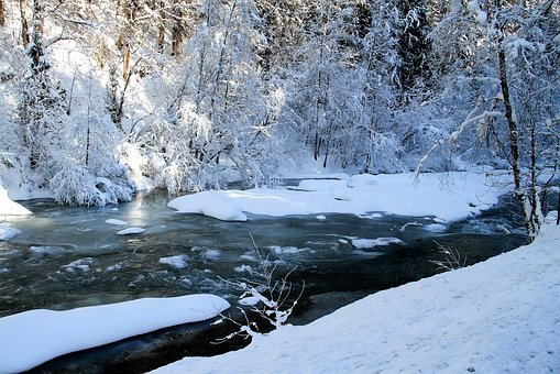 Winter, River, Nature, Snow, Landscape, Ice, Frost