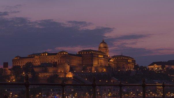 Budapest, Europe, Tourism, Building, At Dusk, Sunset