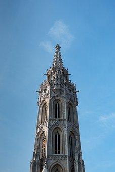 Budapest, Europe, Tourism, Building, Blue Sky