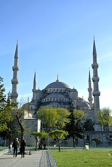 Blue Mosque, Istanbul, Turkey, Mosque, Architecture