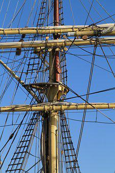 Ship, Sailing, Boat, Sail, Sailboat, Nautical, Rope