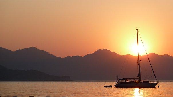 Turkey, Sunset, Turunc, Sky, Sea, Sun, Sunrise, Travel