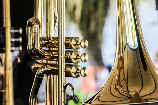 Golden, Reflection, Instrument, Music, Rest, Sound