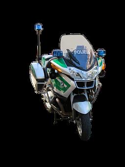 Traffic, Vehicle, Motorcycle, Blue Light, Police, Use