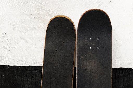 Skateboard, Skate, Old, Wall, Grunge, Dirty, Texture