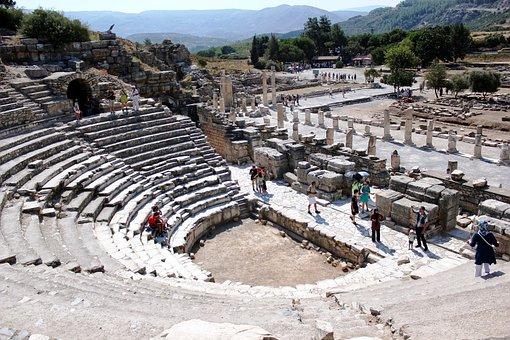 Ancient Theatre, Theatre, Ancient, Mediterranean, Ege