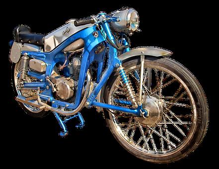 Motorcycle, Capriola Sport, Capriola, Sport, Blue, Old