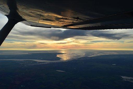 Cessna, Pilot, Aircraft, Sun, Fly, Aviation